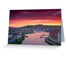 """""""Colour Coated Morning ~ Whitby, North Yorkshire"""" Greeting Card"""