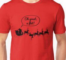 Santa gets a flat Unisex T-Shirt