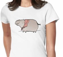 Hippo Wearing A Shawl Womens Fitted T-Shirt