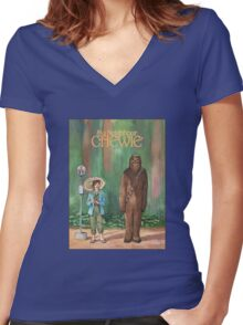 My Neighbour Chewie Women's Fitted V-Neck T-Shirt