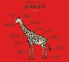 Anatomy of a Giraffe Baby Tee
