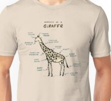 Anatomy of a Giraffe Unisex T-Shirt