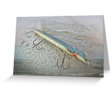Vintage Fishing Lure - Floyd Roman Nike Lil Sandee Greeting Card