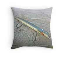 Vintage Fishing Lure - Floyd Roman Nike Lil Sandee Throw Pillow
