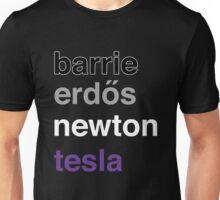 barrie erdős newton tesla Unisex T-Shirt