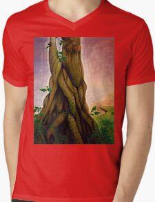 TreeNess Mens V-Neck T-Shirt