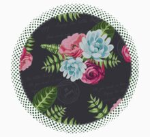 Romantic Floral in pinks and blues Baby Tee