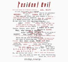 Resident Evil Quotes (dark letters for light colors) Kids Tee