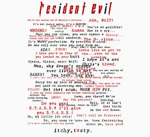 Resident Evil Quotes (dark letters for light colors) Unisex T-Shirt