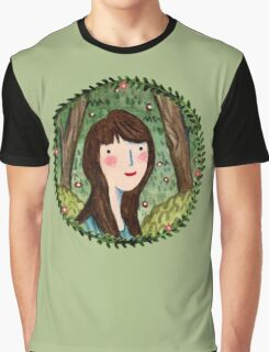 Self Portrait in Woodland Graphic T-Shirt