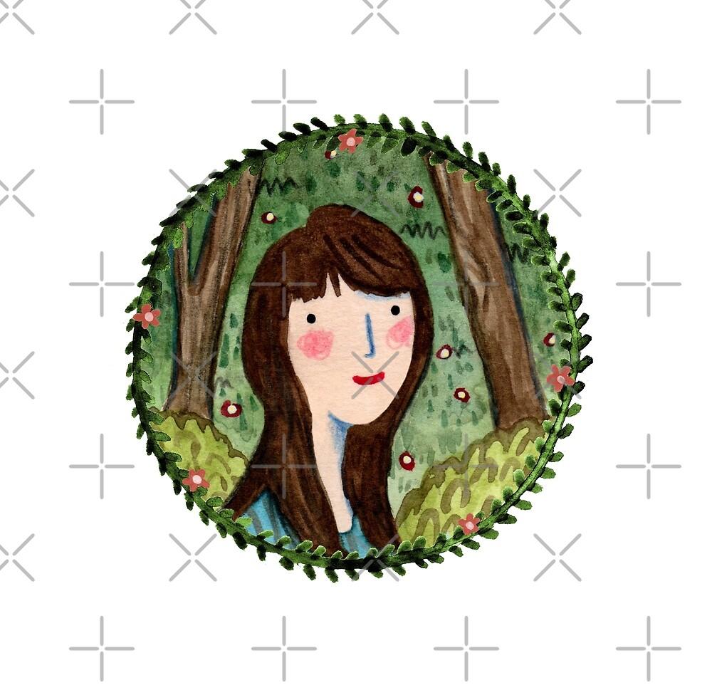 Self Portrait in Woodland by Sophie Corrigan
