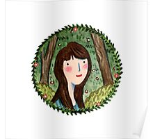 Self Portrait in Woodland Poster