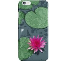 Pink Lotus in Color iPhone Case/Skin