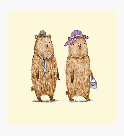 Bear Couple Photographic Print