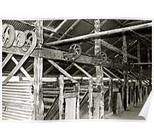 Inside the Lake Mungo Woolshed Poster