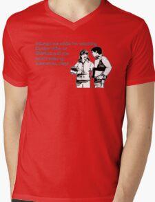 Doctor Who and Sherlock Mens V-Neck T-Shirt