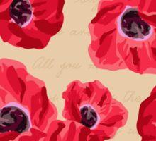 Cherish the Memories - Red Poppies Sticker