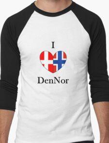 I heart DenNor Men's Baseball ¾ T-Shirt