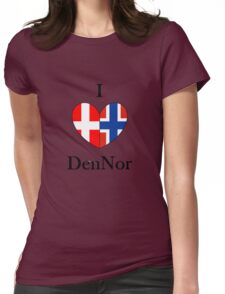 I heart DenNor Womens Fitted T-Shirt
