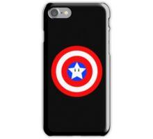 Captain america Mario star  iPhone Case/Skin
