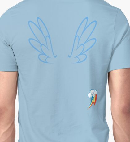 Rainbow Dash Wings & Cutie Mark Unisex T-Shirt