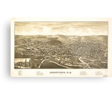 Panoramic Maps Johnstown NY 1888 Metal Print