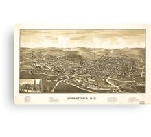Panoramic Maps Johnstown NY 1888 Canvas Print