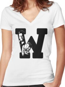 W is for Wash Women's Fitted V-Neck T-Shirt