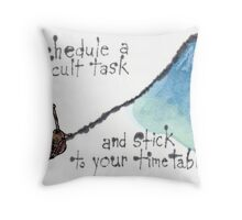 The Snail and the Mountain Throw Pillow