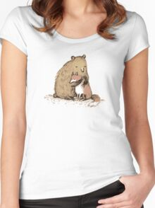 Grizzly Hugs Women's Fitted Scoop T-Shirt
