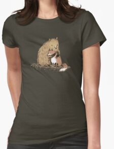 Grizzly Hugs Womens Fitted T-Shirt