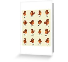 Robins Greeting Card