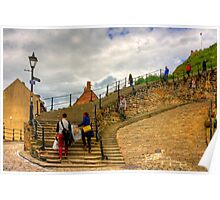 Bottom of the Whitby Steps Poster