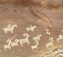 Petroglyphs at Arches by EarthPhoenix