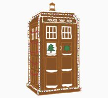 Gingerbread Tardis One Piece - Short Sleeve