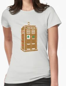 Gingerbread Tardis Womens Fitted T-Shirt