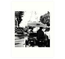 Bali Traffic Art Print
