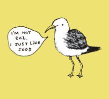 Seagulls Aren't Evil Baby Tee