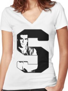 S is for Simon Women's Fitted V-Neck T-Shirt