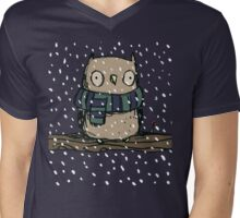 Chilly Owl Mens V-Neck T-Shirt