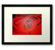 Valentine Red Rose Heart shaped Framed Print