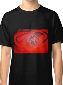 Heart Shaped Valentine Red Rose Classic T-Shirt