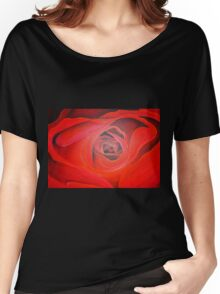Heart Shaped Valentine Red Rose Women's Relaxed Fit T-Shirt