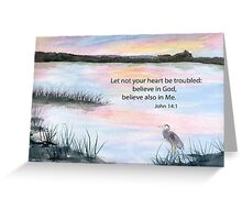 Comfort - John 14:1 Greeting Card