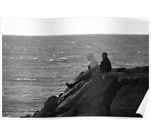 Watching Atlantic Ocean Sunrise | Montauk Point, New York  Poster