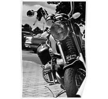 """Black """"n' White moto Poster"""