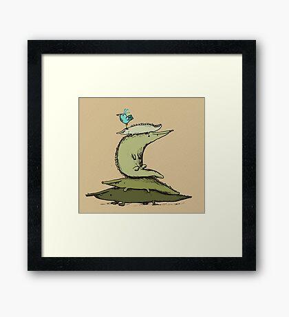 Croc Totem Framed Print