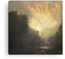 River and Mist Canvas Print