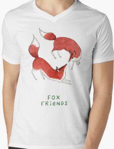 Fox Friends Mens V-Neck T-Shirt