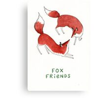 Fox Friends Canvas Print